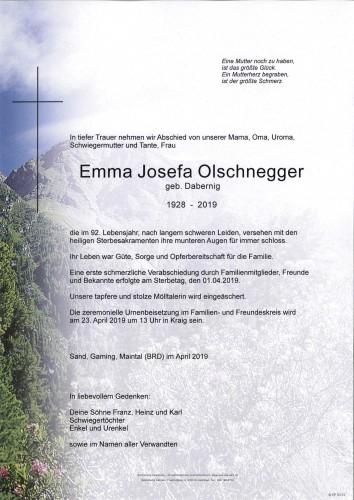 Emma Josefa Olschnegger