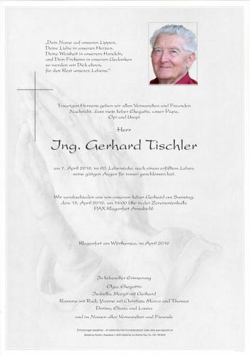 Ing. Gerhard Tischler