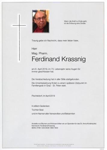 Mag. Pharm. Ferdinand Krassnig
