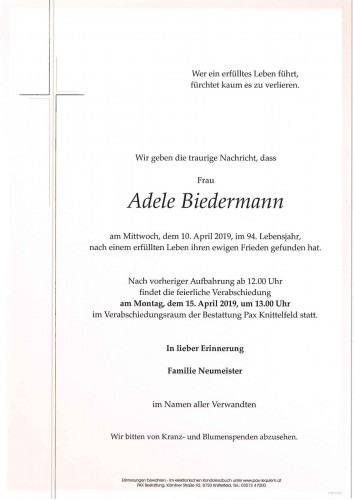 Adele Biedermann