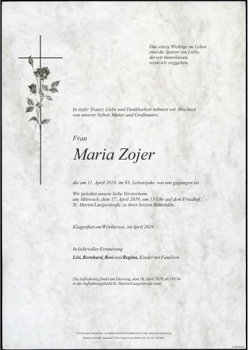 Maria Zojer