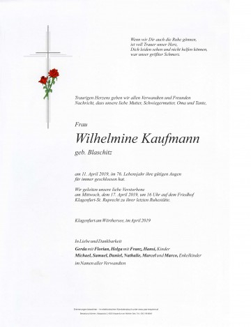 Wilhelmine Kaufmann