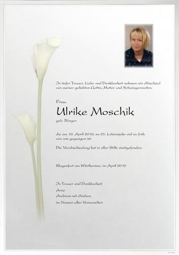 Ulrike Moschik, geb. Bürger