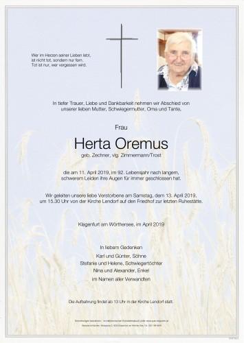 Herta Oremus, geb. Zechner