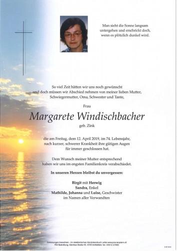 Margarete Windischbacher  geb. Zink