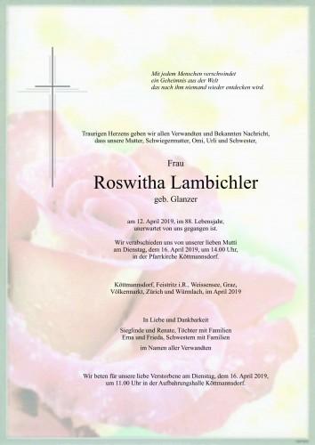 Roswitha Lambichler