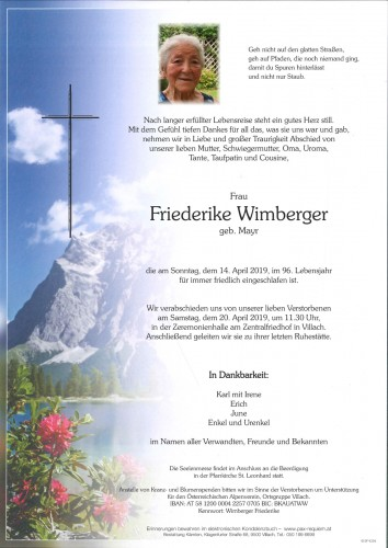 Friederike Wimberger