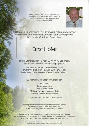 Ernst Hofer