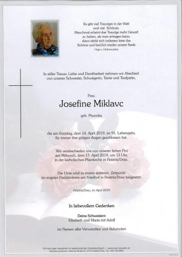 Josefine Miklavc, geb. Piwonka