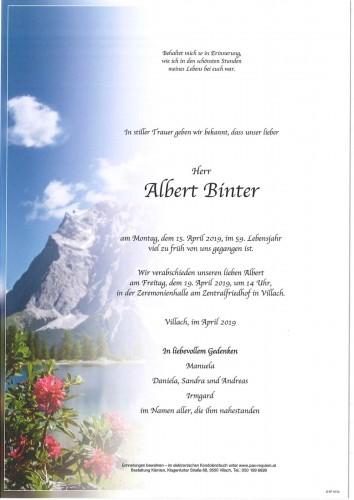 Albert Binter
