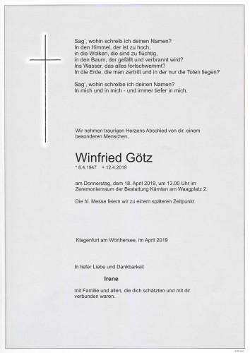 Dipl. Ing. Winfried Götz