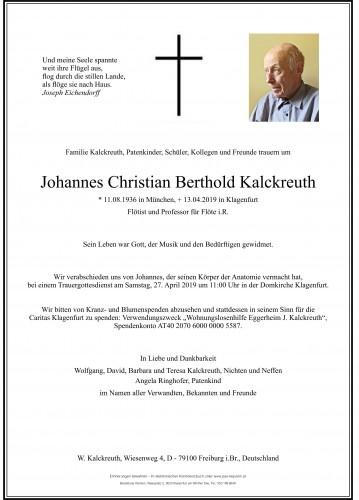 Johannes Kalckreuth