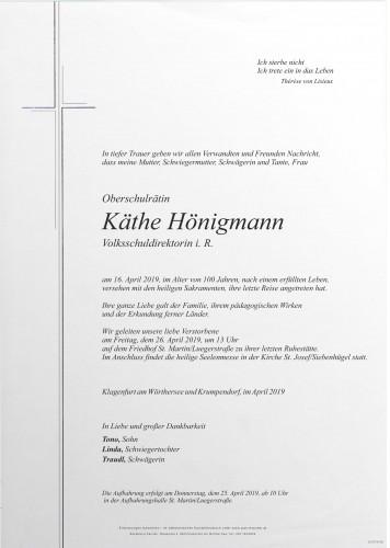 Käthe Hönigmann