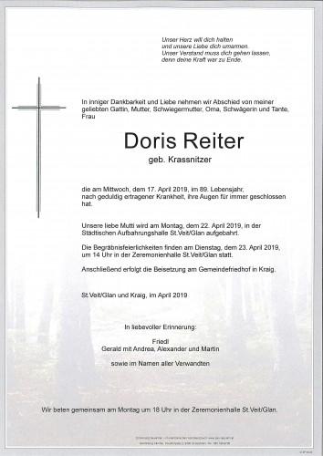 Doris Reiter   geb. Krassnitzer