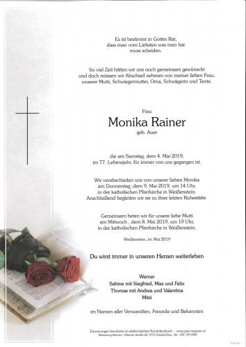 Monika Rainer, geb. Auer