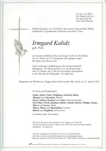 KALIDZ Irmgard