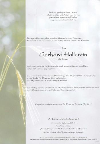 Gerhard Hollentin,  vlg. Bürger