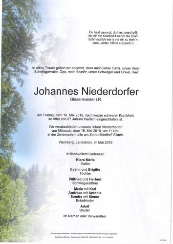 Johannes Niederdorfer