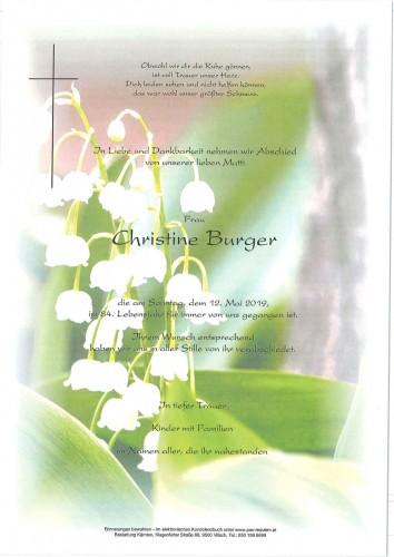 Christine Burger