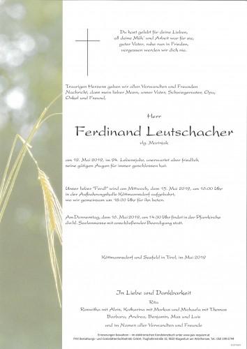 Ferdinand Leutschacher  vlg. Marinjak