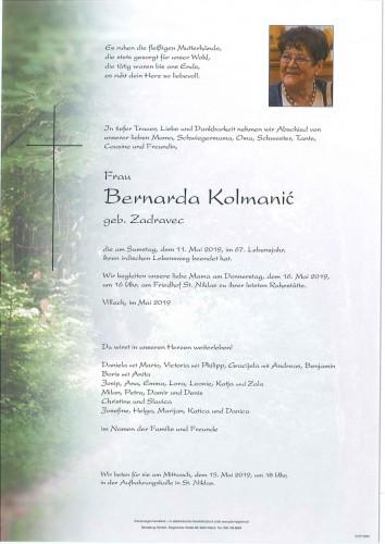 Bernarda Kolmanić