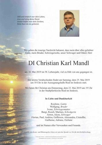 DI Christian Karl Mandl