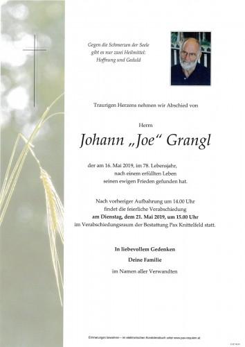 """Johann """"Joe"""" Grangl"""