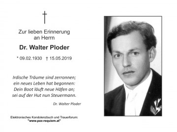 Dr. Walter Ploder
