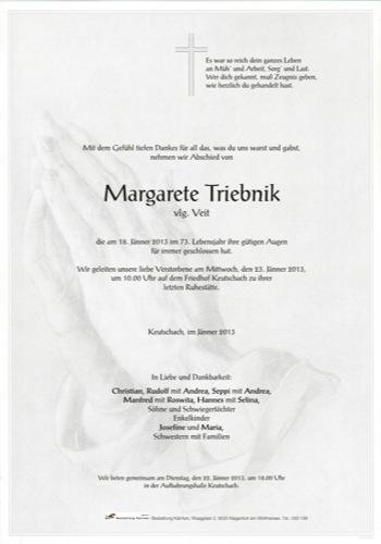 TRIEBNIK Margarete