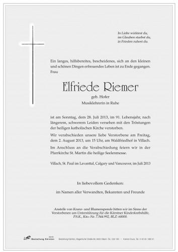 Elfriede Riemer