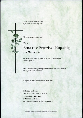 Ernestine Kopeinig