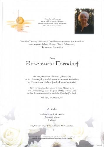 Rosemarie Ferndorf