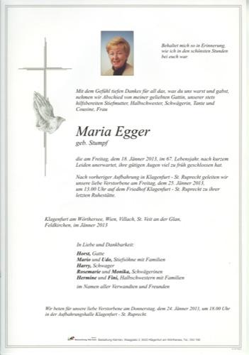 EGGER Maria