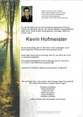 Kevin Hofmeister