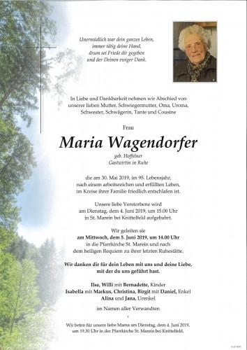 Maria Wagendorfer, Gastwirtin in Ruhe