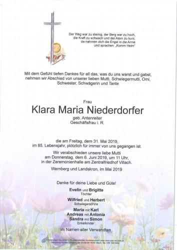 Klara Maria Niederdorfer