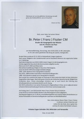 Br. Peter ( Franz ) Fiszter