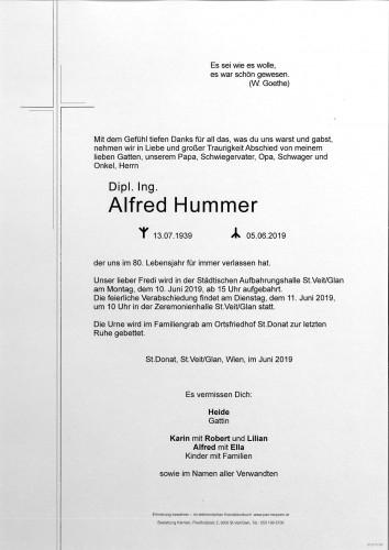 Dipl. Ing. Alfred Hummer