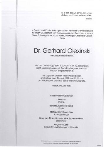 Dr. Gerhard Olexinski