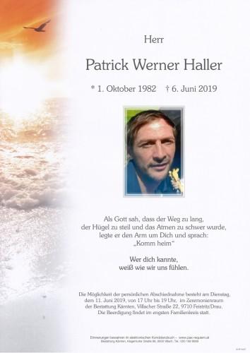 Patrick Werner Haller