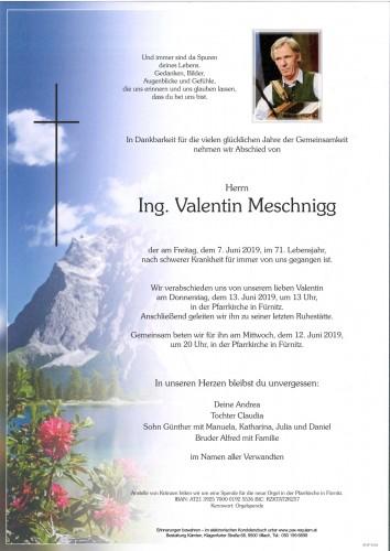 Ing. Valentin Meschnigg