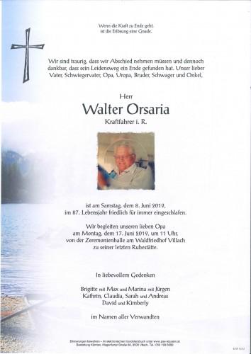 Walter Orsaria