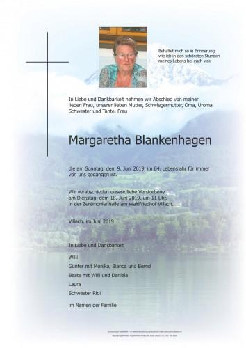 Margaretha Blankenhagen