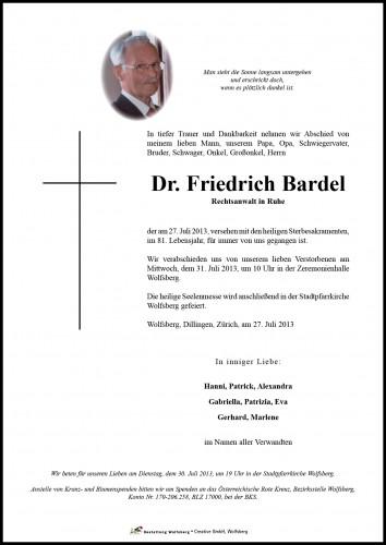 Dr. Friedrich Bardel