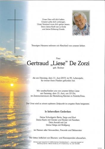 "Gertraud ""Liese"" De Zorzi, geb Bodner"