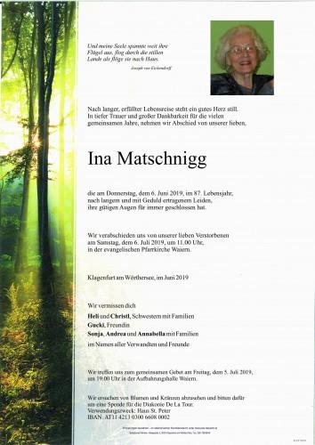 Ina Matschnigg