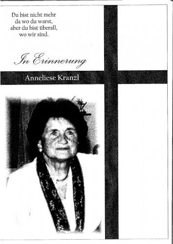 Anneliese Kranzl, geb. Fritz