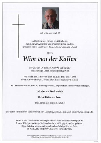 Wim van der Kallen