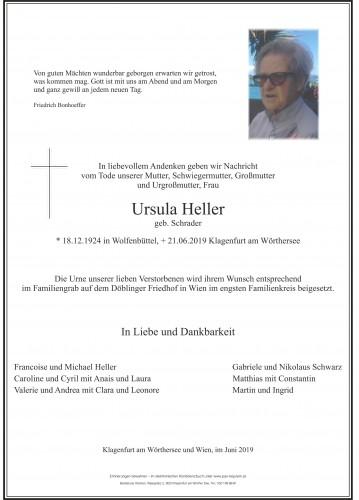 Ursula Heller geb. Schrader