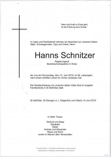 Reg. Rat. Hanns Schnitzer